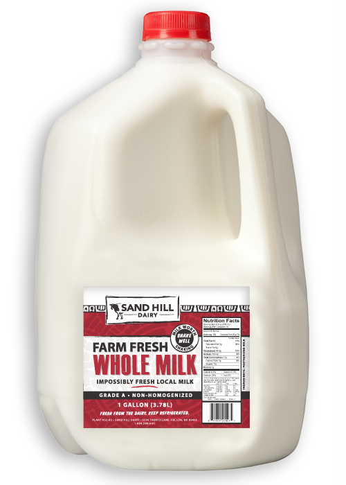 sand hill dairy whole milk 1 gallon our local basket